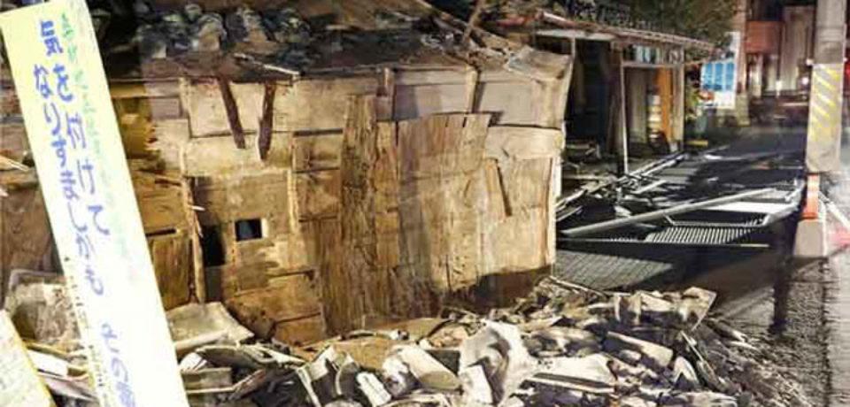জাপানে শক্তিশালী ভূমিকম্পে আহত শতাধিক
